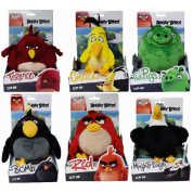 Angry Birds - Keychain: Assorted Plush and Plastic 14cm Figures Display (6 Figures)