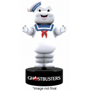 Ghostbusters Classic Movie - Stay Puft Marshmallow Man Solar Powered Body Knocker 15cm Bobble Head