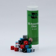 Blackfire Dice - 8mm Assorted D6 Dice (30 Dice)