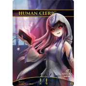 Tokens for MTG - 1/1 Human Cleric Token (10 pcs)