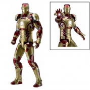 Marvel Iron Man 3 The Movie - IRON MAN Mark 42 1/4 Scale Action Figure 46cm