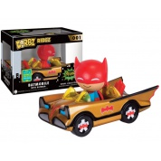 Funko Vinyl Sugar Dorbz Ridez - Batman #66 Gold Batmobile w/Batman Collectible Figure Set 12cm SDCC 2016 Exclusive