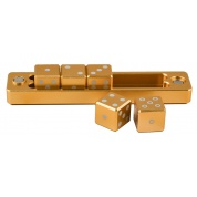 UP - Gravity Dice D6 - Gold - Set of 5 Dice