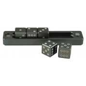 UP - Gravity Dice D6 - Forest Black - Set of 5 Dice