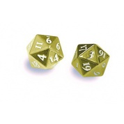 UP - Dice - Heavy Metal D20 2-Dice Set - Gold