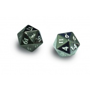 UP - Dice - Heavy Metal D20 2-Dice Set - Gun Metal