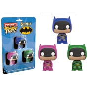 Funko POP! DC Comics - Pocket POP! Batman Multicolor 3-Pack vinyl figures 4cm Set One