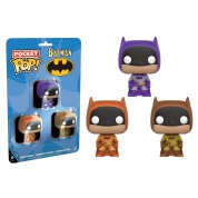 Funko POP! DC Comics - Pocket POP! Batman Multicolor 3-Pack vinyl figures 4cm Set Two
