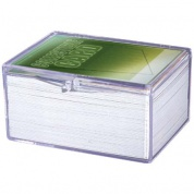 UP - Hinged Clear Box - (For 100 Cards)