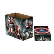 Marvel Short Comic Book Storage Box Captain America Stars 22 x 29 x 37cm - CASE of 5