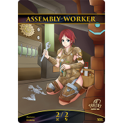 Tokens for MTG - Assembly-Worker Token 2/2 (10 pcs)