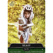 Tokens for MTG - Cosplay Token Beast 3/3 (10 pcs)