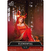 Tokens for MTG - Cosplay Token Elemental 1/1 (10 pcs)