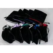 Blackfire Dice - Velvet Dice Bags 10x12cm with Satin Lining (mixed colors) & No Logo (20 Bags)