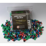Blackfire Dice - Assorted D6 Dice 5 mm (1000 Dice)
