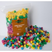 Blackfire Dice - Assorted D6 Dice 8 mm (1000 Dice)