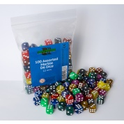 Blackfire Dice - Assorted Marble D6 Dice 12 mm (100 Dice)