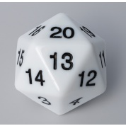 Blackfire Dice - D20 Countdown Die 55 mm - White