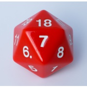 Blackfire Dice - D20 Countdown Die 55 mm - Red