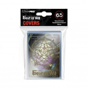 UP - Deck Protector Sleeve Covers - Force of Will - Gold Magic Circle with Moonbreeze's Memoria Promo (65 Sleeves)
