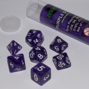 Blackfire Dice - 16mm Role Playing Dice Set - Purple Strike (7 Dice)