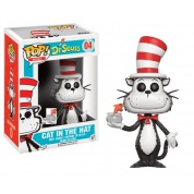 Funko POP! Books Dr. Seuss - Cat In The Hat Flocked With fish bowl Vinyl Figure 10cm limited
