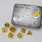 Blackfire Dice - Metal Dice Set - Gold (7 Dice)