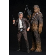 Star Wars Episode 7 The Force Awakens ARTFX+ Series - Han Solo & Chewbacca Statue 2-Pack (Model Kit) 19cm / 23cm