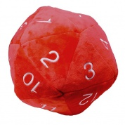 UP - Dice - Jumbo D20 Novelty Dice Plush in Red with White Numbering