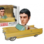 Funko Wacky Wobbler - Scarface - Tony Montana in Cadillac - Figures Set 8-inch long & 4-inch tall