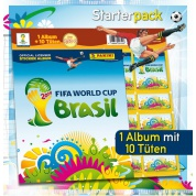 Panini Sticker - WM Brazil 2014 - Starterpack (1 Album + 10 Packs) - DE
