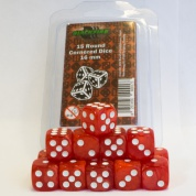 Blackfire Dice - 16mm D6 Dice Set - Marbled Pearlized Red (15 Dice)