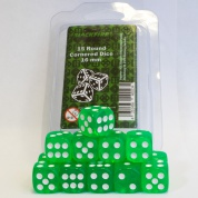 Blackfire Dice - 16mm D6 Dice Set - Transparent Light Green (15 Dice)