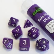 Blackfire Dice - 16mm Role Playing Dice Set - Purple (7 Dice)