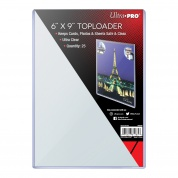 "UP - 6"" X 9"" Toploader (25 Pieces)"