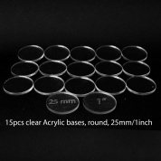 Acrylic Base - Round 25mm/1Inch (15 Pcs)