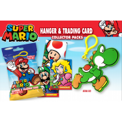 Super Mario - Hanger & Trading Card Collector Packs Display (24 Packs)