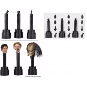 NECA 1/6 Scale Head Display Stand / Base BLACK - Set of 3