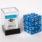 Blackfire Dice Cube - 12mm D6 36 Dice Set - Opaque Blue