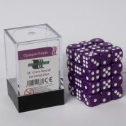 Blackfire Dice Cube - 12mm D6 36 Dice Set - Opaque Purple