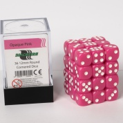 Blackfire Dice Cube - 12mm D6 36 Dice Set - Opaque Pink