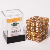 Blackfire Dice Cube – 12mm D6 36 Dice Set – Marbled Gold