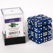 Blackfire Dice Cube - 12mm D6 36 Dice Set - Marbled Dark Blue