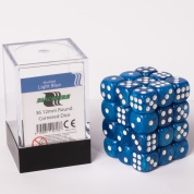 Blackfire Dice Cube - 12mm D6 36 Dice Set - Marbled Light Blue