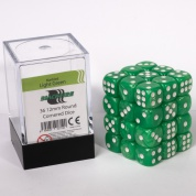 Blackfire Dice Cube - 12mm D6 36 Dice Set - Marbled Light Green