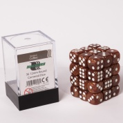 Blackfire Dice Cube - 12mm D6 36 Dice Set - Marbled Coffee