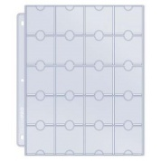 UP - 20-Pocket Platinum Page for Coins and Tokens (10-pack)