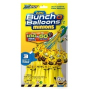 Zuru Bunch O Balloons Minions - 100 Water Ballons in 60 Seconds 3-Pack Display (24 Pcs)