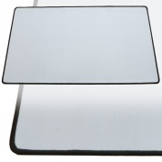 Blackfire Playmat – White with Black Stitching