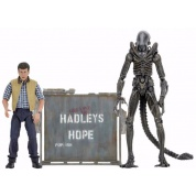 Aliens 30th Anniversary - Hadley's Hope - Concept Xenomorph Warrior and Carter Burke 2-Pack Action Figure 18-23cm
